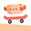 欢乐热狗玩滑板
